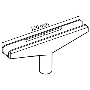 T-PIECE 160 MM, FOR FRAMES SERIES 2 AND 10 MM D TUBES