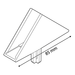 DEKO T-PIECE TRIANGULAR FOR FRAMES SERIES 1, FIXING INTO 16 MM D TUBES