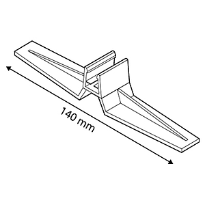FRAME BASE SUPPORT, VERTICAL POSITION, FOR FRAMES SERIES 2, 140 MM LENGTH