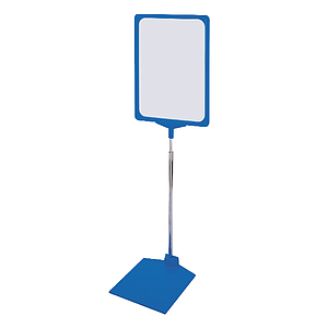 SHOWCARD STAND KB, ADJUSTABLE TUBE 320-620 MM, PLASTIC BASE WITH METAL INLAY, A4P