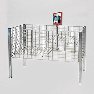 SHOWCARD STAND DK, A4L FRAME, ADJUSTABLE TUBE 320-620 MM, FOR WIRE BASKETS