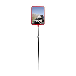 SHOWCARD STAND WITH A3P FRAME, ADJUSTABLE TUBE 1000 - 1700 MM, WITHOUT BASE