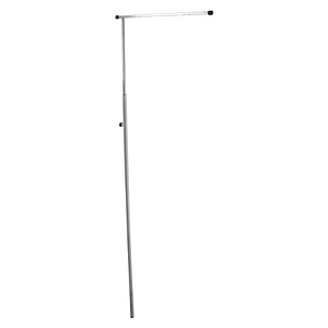 GALLOW SHOWCARD STAND, ONE ALUMINIUM GALLOW 500 MM, SQUARE STEEL TUBE 1200 - 2100 MM, WITHOUT BASE