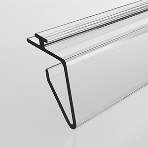 SNAP-ON PROFILE WITH MECHANICAL CLAMPING FOR TEGO SHELVES
