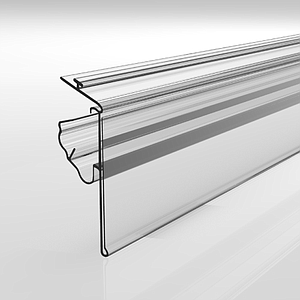 SNAP-ON PROFILE WITH LABEL HOLDER AND MECHANICAL CLAMPING, 40X998 MM