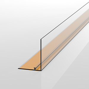 SNAP-ON PROFILE WITH ADHESIVE MOUNTING, 39X998 MM AND FRONT WITH H 39 MM