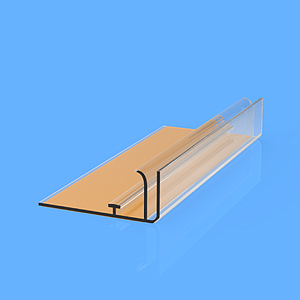 SNAP-ON PROFILE WITH ADHESIVE, 40X1000 MM AND ADAPTER