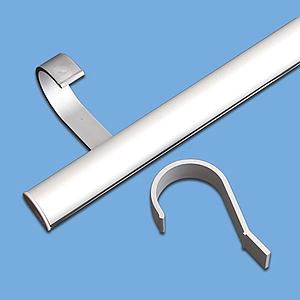 PLASTIC SOLID SUSPENSION HOOK FOR 44 MM TUBE DIAMETER