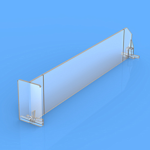 "DIVIDER 60X535 MM (HXL), WITH TWO FIXING POINTS, ""T"" FRONT 60X35 MM"