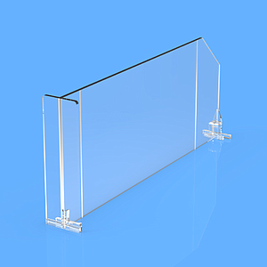 "DIVIDER 120X410 MM (HXL), WITH TWO FIXING POINTS, ""T"" FRONT 120X35 MM"