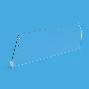"DIVIDER 120X380 MM (HXL), WITH A FIXING POINT, ""T"" FRONT 20X24 MM"