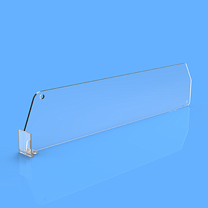 "DIVIDER 60X205 MM (HXL), WITH A FIXING POINT, ""T"" FRONT 12X24 MM"