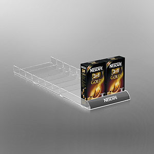 SHELF ORGANIZER WITH LOW ROUNDED FRONT, 87,5X540 MM