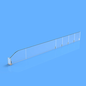 "PET DIVIDER 50X485 MM (HXL), ""T"" FRONT 25X30 MM, BREAKING POINTS TO EVERY 50 MM"