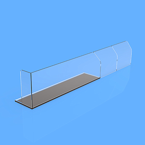 "PET DIVIDER 50X255 MM, WITH ""L"" FRONT LEFT 20X50 MM, TWO BRAKING POINTS AT 155 MM OR 205 MM, MAGNETIC BASE"