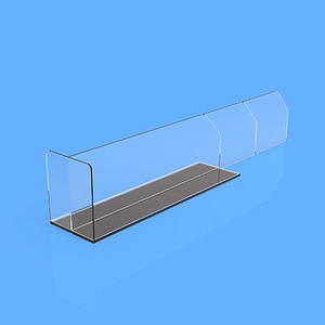 "PET DIVIDER 50X255 MM, WITH ""T"" FRONT 35X50 MM, TWO BRAKING POINTS AT 155 MM OR 205 MM, MAGNETIC BASE"
