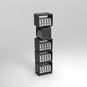 CUBICAL MODULAR DISPLAY, 5 CUBES 490X340 MM+BASE