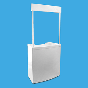 PLASTIC BORD, SAMPLING 88X45X90 CM BASE AND 90X25 CM HEADER