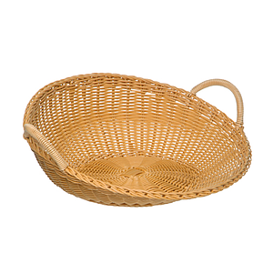 BRAIDED ROUND BASKET WITH TWO HANDLES, 460X185 MM (DXH)
