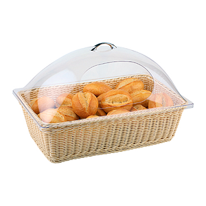 BRAIDED RECTANGULAR BASKET MADE OF PLASTIC, BASE SIZE: 530X325X155 MM (LXlXH)