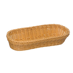 BRAIDED OVAL BASKET, 280X160X80 MM (LXlXH)