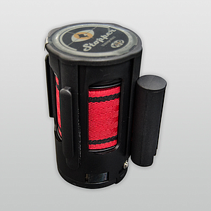 COLUMN BLACK HEAD WITH RED RETRACTABLE TAPE
