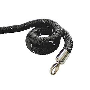 TEXTILE CORD 2000 MM WITH CHROMED MOUNTING RING