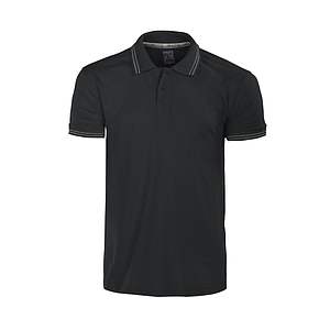 PIQUE TOP RIB POLO T-SHIRT, WITH THREE BUTTONS ON THE PLACKET