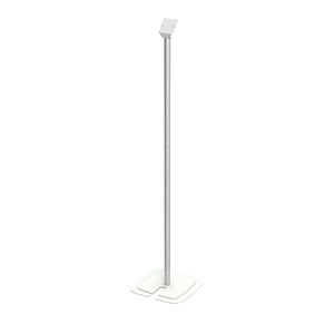 STAND WITH METALLIC RECTANGULAR BASE, ALUMINIUM ROD OF H 1000 MM AND ADAPTOR FOR LEAFLET DISPENSER