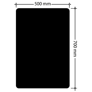CHALK BOARD, 500X700 MM SIZE, 0,5-1 MM THICKNESS