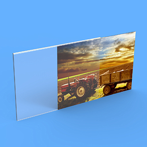 PLEXIGLAS U POCKET, A4L, 2 MM THICKNESS