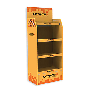 40 KG, CORRUGATED CARDBOARD DISPLAY 530x670x1550+275 MM HEADER