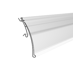 HERMES SCANNING RAIL, 39X1000 MM, WITH SOFT HINGE, WITHOUT GRIP