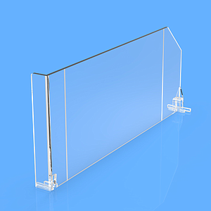 DIVIDER 120X485 MM (HXL), WITH TWO FIXING POINTS, WITH LEFT FRONT