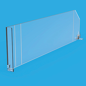 SNAP-ON DIVIDER WITH FRONT ON THE RIGHT, 120X385MM (HXL)