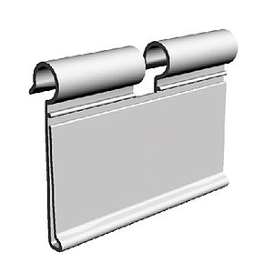 LABEL HOLDER, 60x80 MM, FOR MAX 6 MM HOOKS DIAMETER; TRANSPARENT