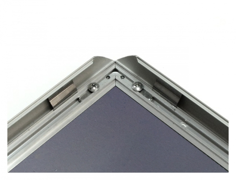 ALU-SNAP TYPE FRAME WITH CHROMIUM MITRED CORNERS, A3 (297X420 MM), 25 MM PROFILE